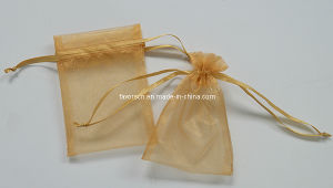 5X8′′ Anti Gold Organza Pouch pictures & photos