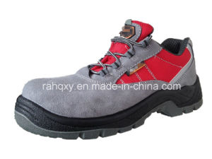 Grey Suede and Red Oxford Safety Shoe[Hq05020] pictures & photos
