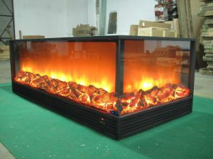 China 3 Sided Decorative Electric Fireplace China 3 Sided Electric