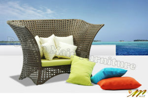 Rattan Day Bed Sofa Set, Wicker Day Bed with Cushion