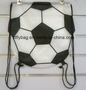 Football Shaped Drawstring Backpack/ Football Bag pictures & photos