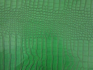 Crocodile Pattern Synthetic Leather for Shoes and Bags (HX1410) pictures & photos