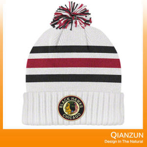 Stipped Jacquard POM Knitted Beanie Caps pictures & photos