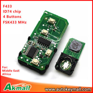 Pcb Board Smart Remote Key Without Shell For 271451 0500 Toyota 433mhz With 4 Buttons