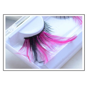 Fashion Creative Makeup Eyelash Stage Cosplay Pink Feather False Eyelashes pictures & photos