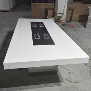 China High End Artificial Quartz Stone White Square Design Modern