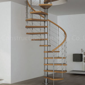 Prefabricated Stainless Steel Spiral Stairs Home Curved Stairs For Indoor