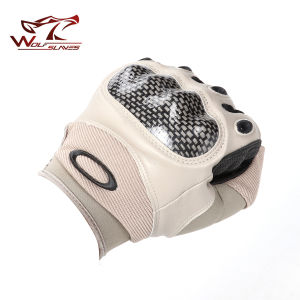 Full Finger Airsoft Tactical Carbon Knuckle Gloves Safety Gloves pictures & photos