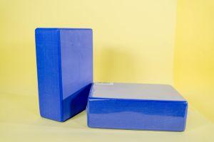 H/&S 2 x Yoga Block High Density EVA Foam Brick Eco Friendly Purple Blue