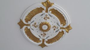 Gold Decorative Polyurethane Ceiling Medallion