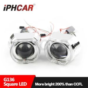 China Iphcar Automotive Led Headlight Square Halo Ring Mini H1 Hid