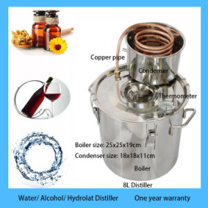 Hot Sale 8L/2gal Home Alcohol Distiller Ethanol Distillation Equipment pictures & photos