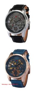 Brilliant Smart Automatic Men′s Watches with Genuine Leather Strap Fs683
