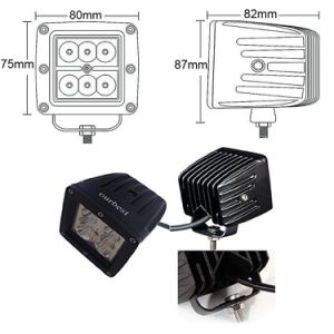 off-Road Vehicle 3 Inch 18W 2200lm 6000k CREE Cube Pod Spot Auto LED Work Headlight pictures & photos