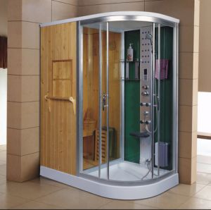 1700mm Sector Steam Combined Sauna with Shower (AT-D1710BF-1) pictures & photos