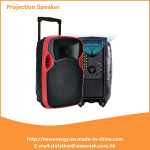 Mobile Portable Wireless USB Multimedia Active LED Projection Speaker