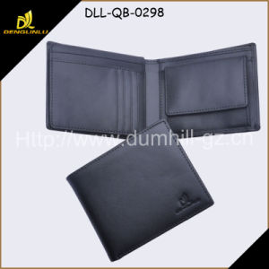 Real Split Leather Men Wallet with Customized Logo