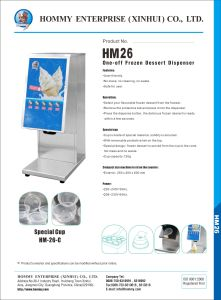 One shot ice cream machine as Hommy Soft Serve Frozen Yogurt on Stand with CE certifiate pictures & photos