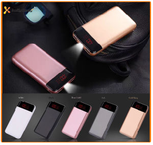 True Capacity Two Output LED Lamp Power Banks 10000mAh for Smart Phone, Portable Li-ion Battery