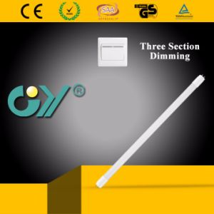 3000k 18W Three Section Dimming LED Tube with Ce TUV