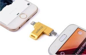16GB-128GB Metal OTG USB Flash Drive for iPhone iPad iPod and Computer (OM-PU005) pictures & photos