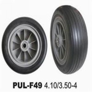 410/350-4 PU Solid Hand Truck Tires pictures & photos