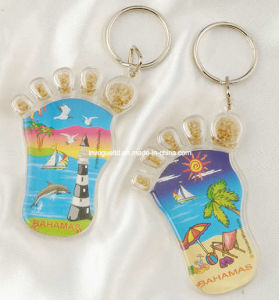 Foot Shaped Acrylic Keyring, Promotion Gifts, Souvenir Gifts pictures & photos