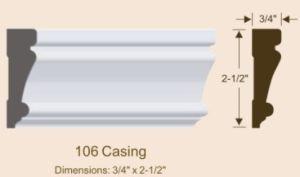 Charming Door Casing/MDF Moulding/Door Frame/Door Stop