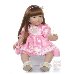 Lifelike Reborn Baby Doll 24 Inch Real Looking Weighted Reborn Girl Doll Toy Best Birthday Set for Girls Age 3