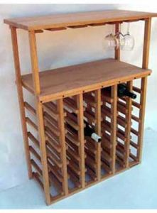 China Hot Sale Glass Top Wood Wall Wine Rack China Wodenl Wine