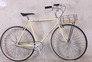 Fixed Gear Bicycle (Cog and Freewheel Included) with Basket pictures & photos