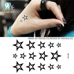 China Fashion Women Girls Waterproof Temporary Sexy Five Pointed Star Totem Tattoo Sticker For Hands China Temporary Tattoo And Temporary Tattoo Girl Price