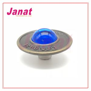 25mm Button with Blue Stone in Middle