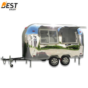 Shiny Airstream Mobile Fast Food Trailer Factory Wholesale Price