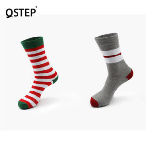 Wholesale Custom Design Colorful Stripes Cotton Dress Breathable Happy Socks for Men