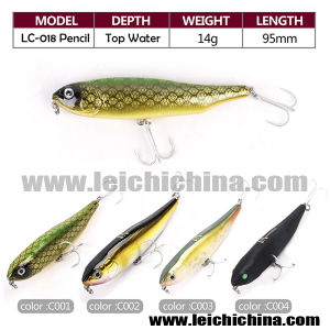 14G 95mm Samll Head Flexible Top Water Pencil Bait Fishing Lures pictures & photos