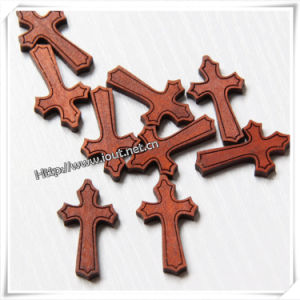 Rosary Necklace with Wooden Cross / Wooden Crucifix (IO-cw021) pictures & photos