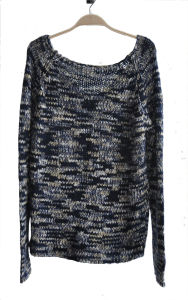 Ladies 100%Acrylic Fancy Yarn Knit Pullover Sweater pictures & photos