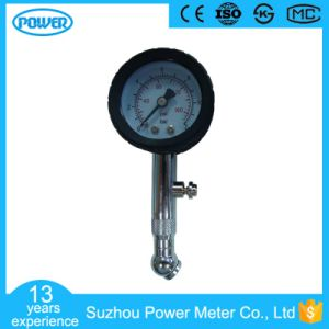 40mm Stainless Steel Car Tire Pressure Gauge with Rotatable Valve pictures & photos