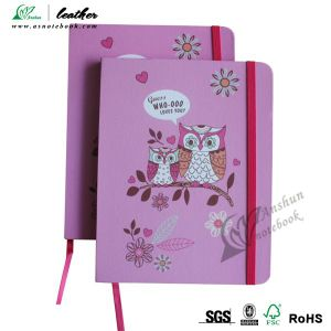 Custom A5 Size Hardcover Paper Notebook with Elastic Cord