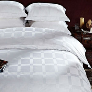 100% Cotton Check White Bedding Sets/Jacquard Bed Sheets/Dobby Sheets