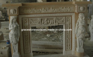 Marble Fireplace Mantel with Statue pictures & photos