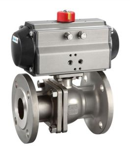 Pneumatic Stainless Steel ANSI Flanged Ball Valve Pn16 pictures & photos