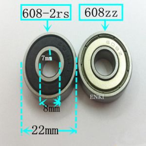 Bearing Steel Gcr15 Skateboard Deep Groove Ball Bearing (608 2RS 608zz 608z 608 608-2RS)