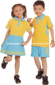 2014 Primary School Uniform for Children in Summer Style -Sc01 pictures & photos