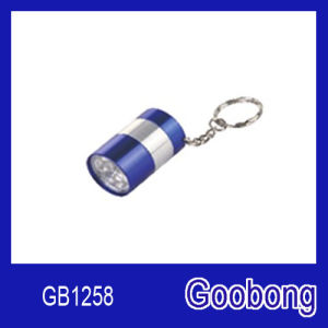 6LED Aluminium Keychain Torch Flashlight