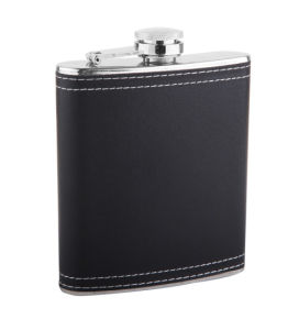 Chivas Black Leather Hip Flask (QL-BP07)