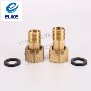 "1-1/4"" 80mm Length Brass Adaptor with 1-1/2"" Gasket"