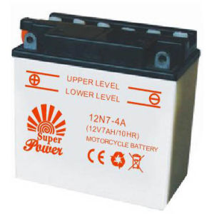 Dry Charged Motorcycle Battery 12n7-4A with CE UL Certificate pictures & photos