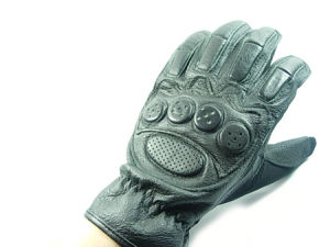 US Military Tank Full Figure Black Leather Glove